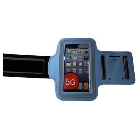 NetworkShop Custodia Fascia Da Braccio Sport Armband Azzurro Per Iphone 5