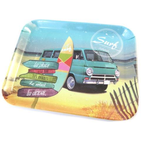 piccolo vassoio 'esprit surf' multicolore - 15x20 cm - [ p0991]