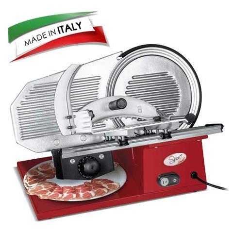 - Paprika Gourmet Pro 25 Made In Italy - Affettatrice Professionale In Pressofusione Di Alluminio Lama 25 Cm Con Sistema Antiaderente A Scanalature 180 W