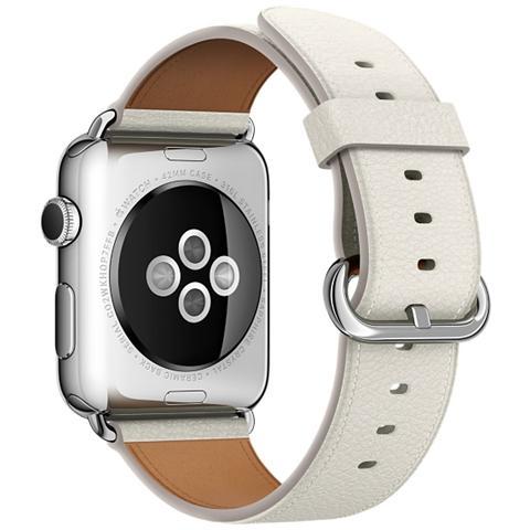 APPLE Cinturino Classic da 42 mm per Apple Watch colore Bianco