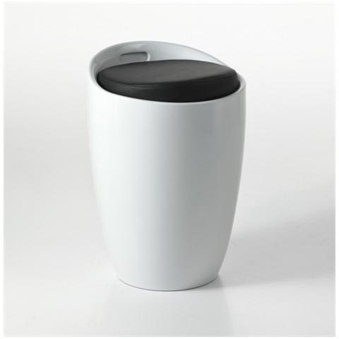 Tomasucci Pouf Contenitore Con Struttura In Pvc Di Colore Bianco Mod. pillow White Cod. 0886