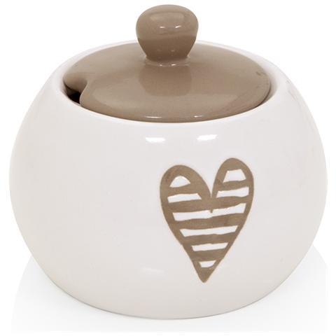 Zuccheriera Batticuore Tortora Stoneware