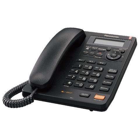 Panasonic kx ts620exb telefono fisso black eprice - Telefoni a parete ...
