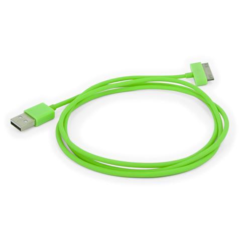 EMACHINE I-PHONE-CB-VE - Cavo da connettore dock a USB per iPhone 30p Verde