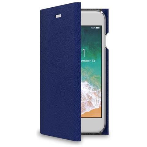 CELLY Flip Cover Custodia per iPhone 7 Colore Blu