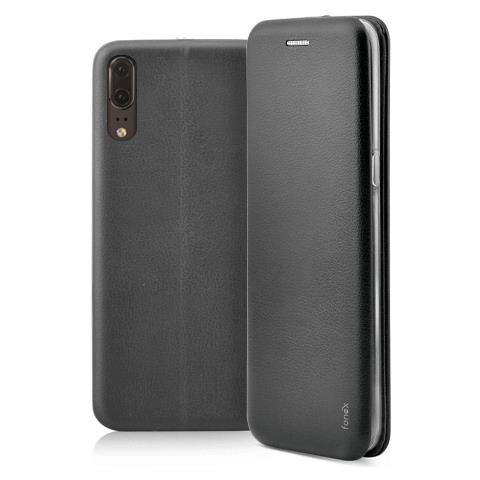 FONEX Profile Book Custodia a Libro per Huawei P20 Colore Nero