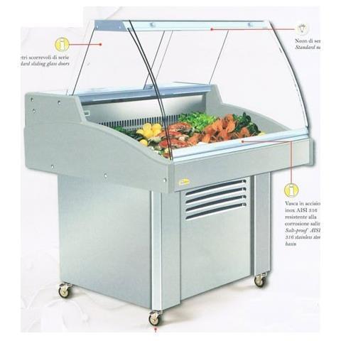 Banco refrigerato per esposizione pesce - Lunghezza cm. 172