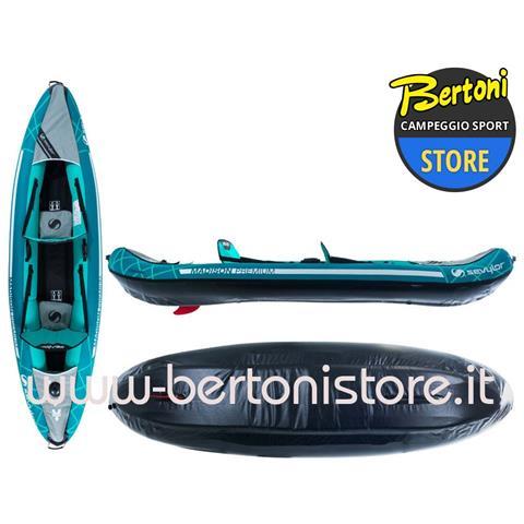 Canoa Gonfiabile Madison + Pompa + 2 Pagaie Divisibili 000026699