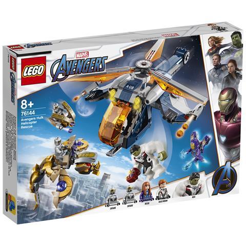 LEGO 76144 Marvel Avengers - Hulk Salvataggio in Elicottero
