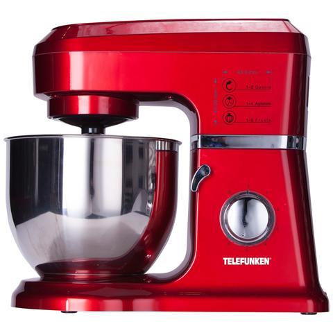 Impastatrice Professionale M04318 Potenza 1000 Watt Capacità 4,5 Litri Colore Rosso