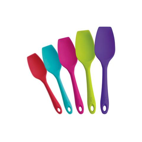 Cucchiaio squadrato in silicone colorato