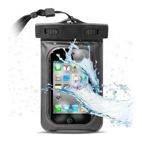 EUR Custodia Subacquea Universale Per Smartphone Blu Trasparente Cm 11,5x16,5