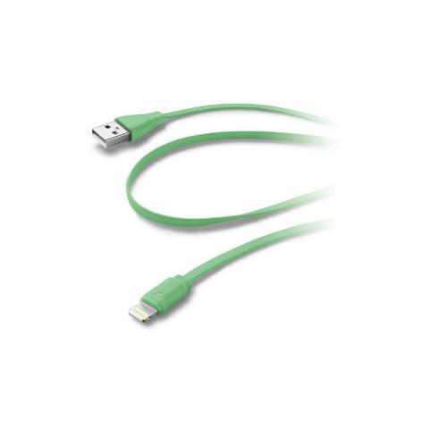 CELLULAR LINE Cavo Dati USB / Lightning per sincronizzazione e ricarica - Verde