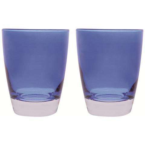 Set 2 Bicchieri Acqua Happy Colour Blu