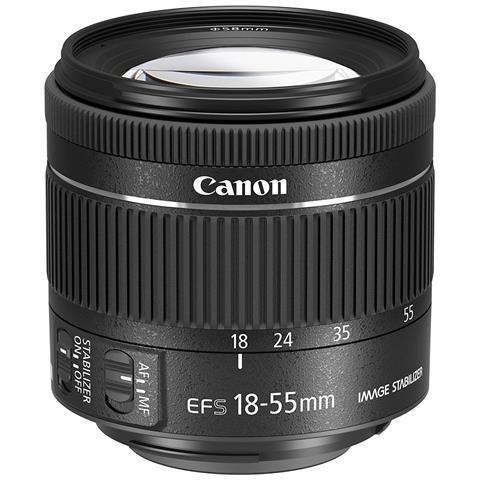 Obiettivo Zoom per Digital SLR 18 mm - 55 mm Colore Nero