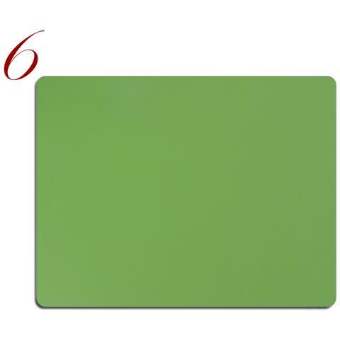 Tovagliette Americane Pelle Lavabile Pantone Verde 6Pz