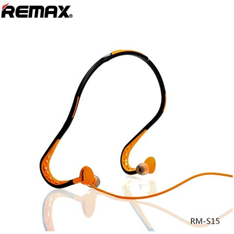 Remax Cuffie Auricolari Sports Wired Stereo Headset 3,5mm Rm-s15 Arancio