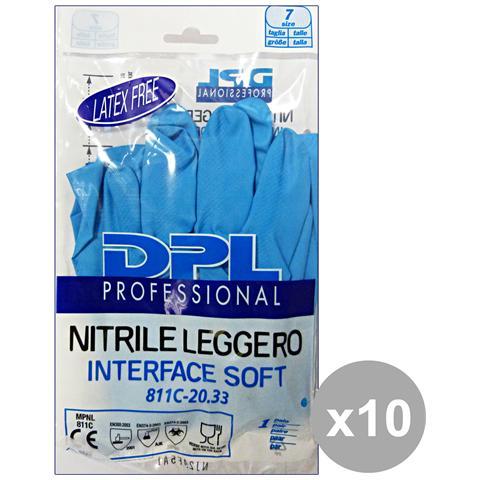 DPL Professional Set 10 Guanti Piatti Nitrile Anallergici M Gi