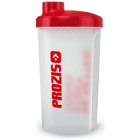 Shaker Prozis Red Top 600ml Materiali Alta Qualità Trasparente 100% Impermeabile -