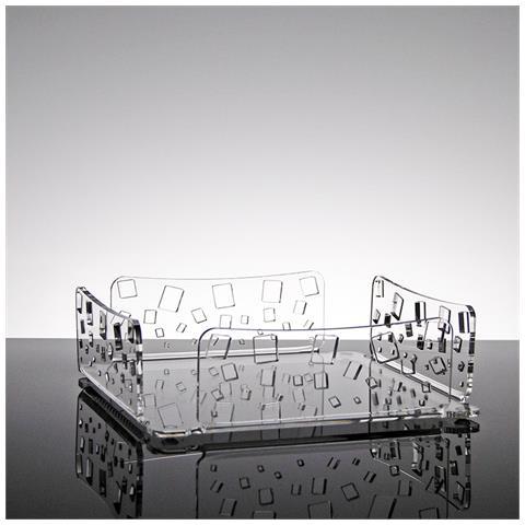 Portatovaglioli Porta Tovaglioli Da Tavolo Design Moderno In Plexiglass Trasparente Yuri