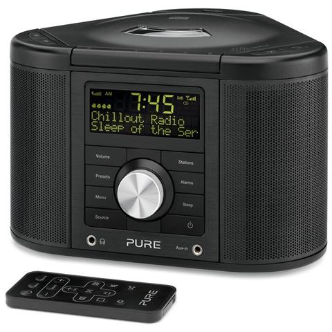 Pure Radio CHRONOS CD Serie 2 DAB / DAB+ / DMB-A / FM / RDS Ingresso Aux colore Nero