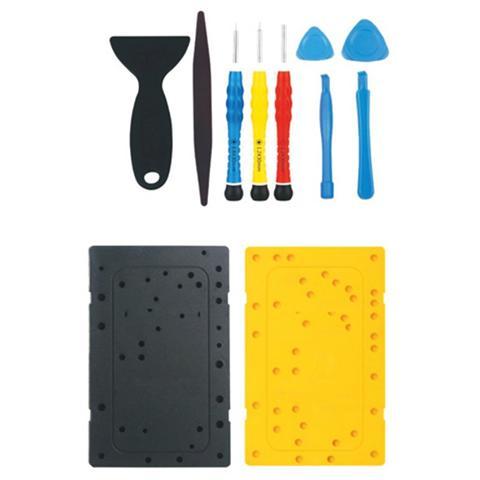 Techly I-PHONE-TOOL3 - Kit 11 Attrezzi di Riparazione e Apertura per iPhone4/4s