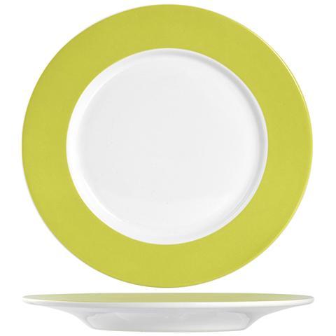 H&H Piatto F / verde Ala Frutta Cm20 Stoviglie