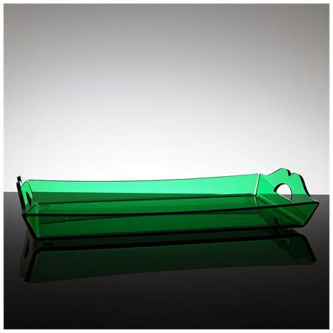 Vassoio Rettangolare Da Portata Design Moderno In Plexiglass Aster Piccolo (31.5 × 18 × 2.5 Cm) - Colore Verde