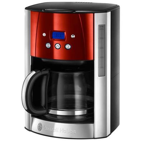caffè programmabile Luna Red Steel 12 tazze 1000w 23.240-56