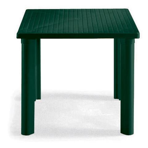 Tavolo Nuovo Elle Verde in Resina 80x80 cm