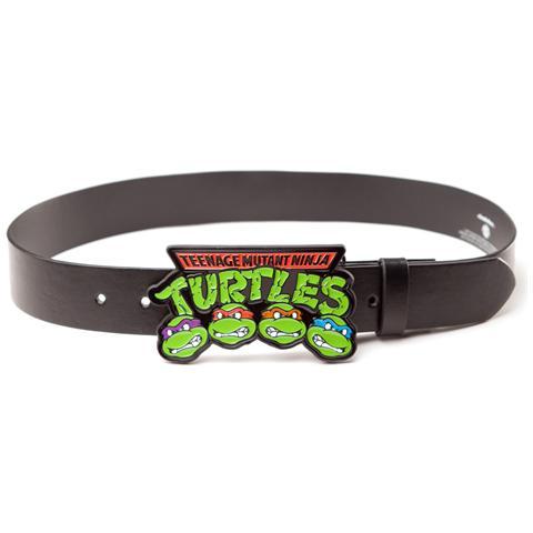 BIOWORLD Teenage Mutant Ninja Turtles - Logo Buckle With Black Strap (Cintura Tg. S)