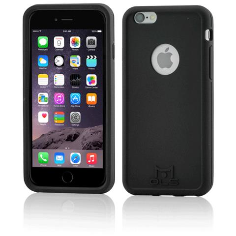 FONEX MOLS Custodia Antiurto Nera per Iphone 6 Plus / 6S Plus Sottile e Flessibile Made In Italy Con Pellicola Protettiva Inclusa RICONDIZIONATO