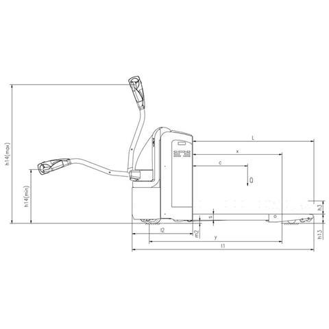 Transpallet Elettrico Per Europallet 2,0t 2000 Kg (1150 Mm)