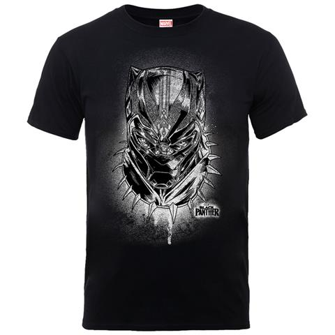 PHM Marvel Black Panther - Spray Headshot Ts