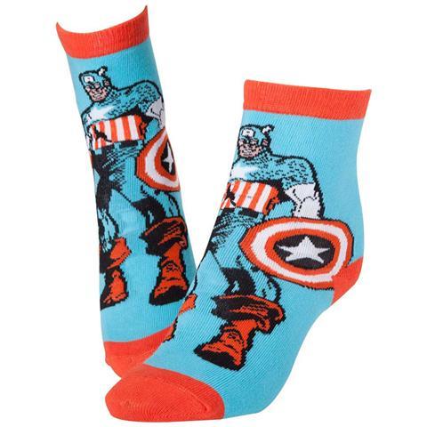 BIOWORLD Marvel - Captain America Red & Blue (Calzini Tg. 39-42)