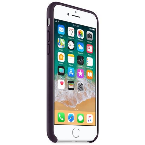 APPLE Custodia in Pelle per iPhone 8 e 7 Colore Melanzana
