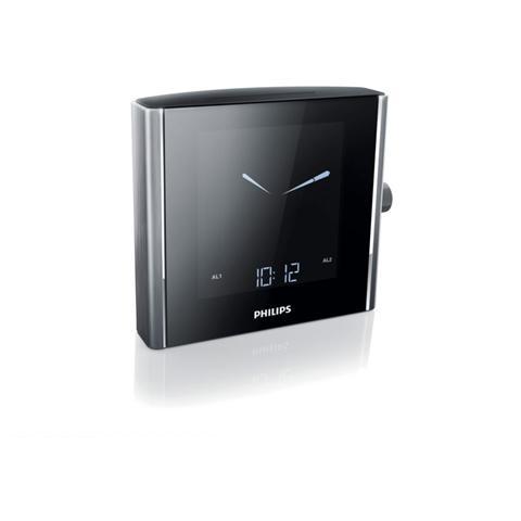 PHILIPS Radio Sveglia con Sintonizzazione Digitale Colore Nero / Alluminio