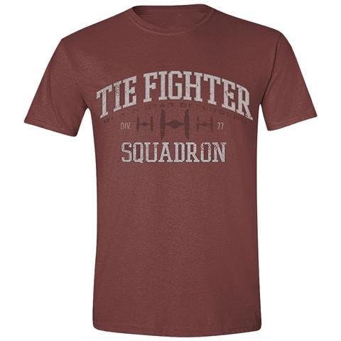 TimeCity Star Wars - Tie Fighter Squadron Red Melange (T-Shirt Unisex Tg. S)