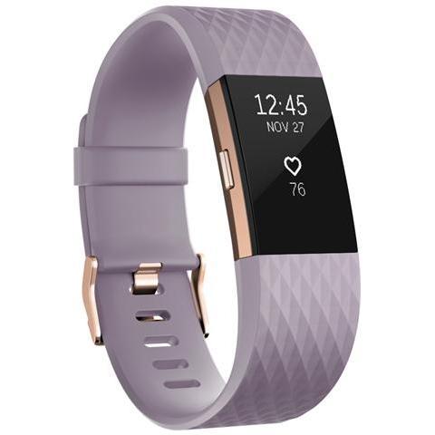 Fitbit Charge 2 Braccialetto Wireless taglia S per monitoraggio Attività fisica e Sonno - Lavanda / OroRosa