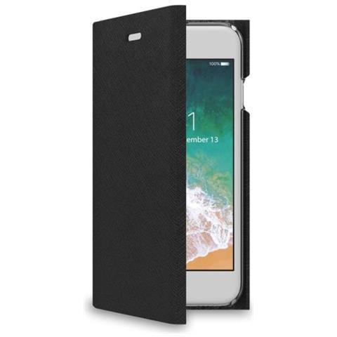 CELLY Flip Cover Custodia per iPhone 7 Colore Nero