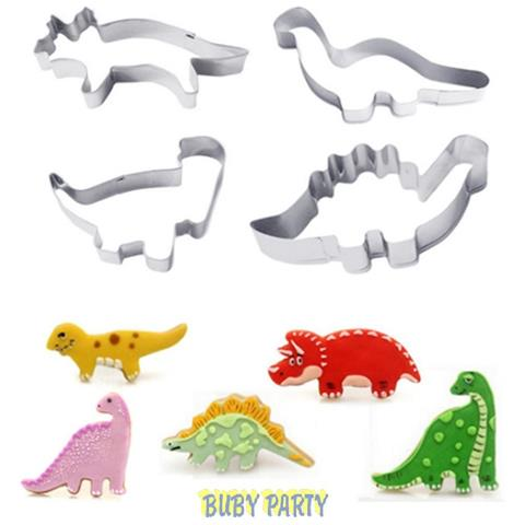 Set 4 Tagliapasta In Metallo Dinosauri
