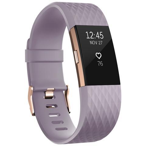 Fitbit Charge 2 Braccialetto Wireless taglia L per monitoraggio Attività fisica e Sonno - Lavanda / OroRosa
