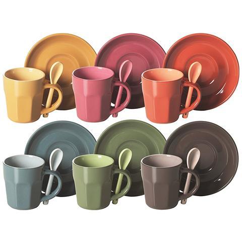 Confezione sei tazze Caffe' con Cucchiaio Abbraccio