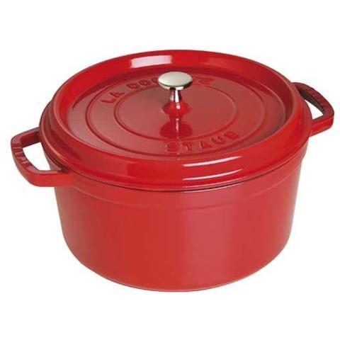 Cocotte in Ghisa con Coperchio Diametro 18 cm Colore Rosso