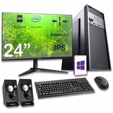 Image of Computer Completo 8gb Ram Ssd 240 Gb Monitor Mouse Tastiera Altoparlanti Inclusi