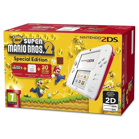 Image of Console 2DS Bianco / Rosso New Super Mario Bros 2 Limited Edition