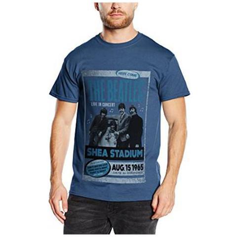 ROCK OFF Beatles (The) - Shea Stadium 1965 Blue (T-Shirt Unisex Tg. S)