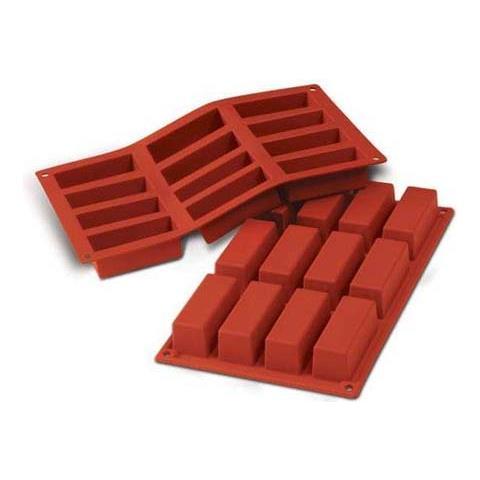 Stampo cakes 12 cavità 8x3cm classic terracotta silicone
