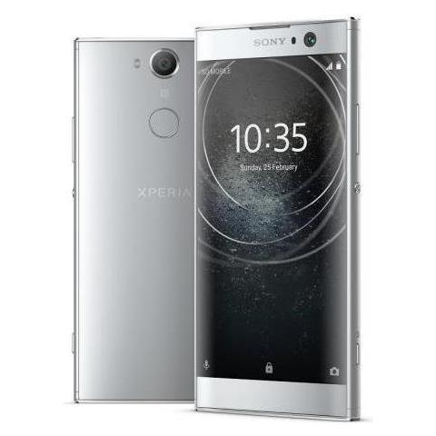 "SONY Xperia XA2 Argento 32 GB 4G / LTE Display 5.2"" Full HD Slot Micro SD Fotocamera 23 Mpx Android Tim Italia"