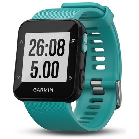 GARMIN Forerunner 30 Impermeabile 5 ATM con GPS running watch colore Turchese
